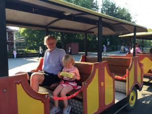 Sista turen för dagen med Tuff-tuff-tåget!
