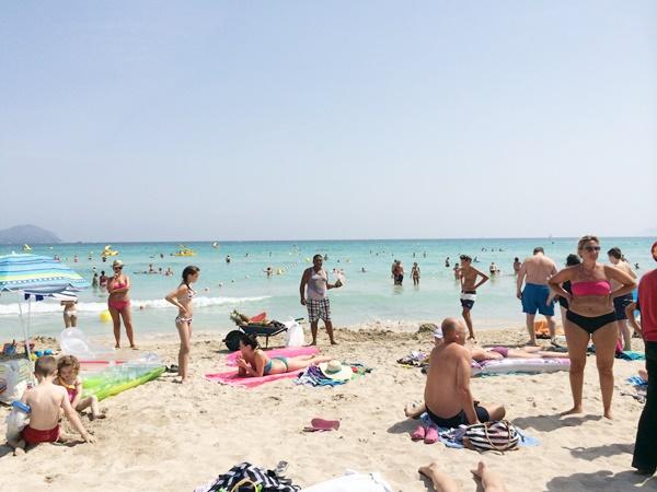 Mallorca, barn, resa, barnsemester, Alcudia