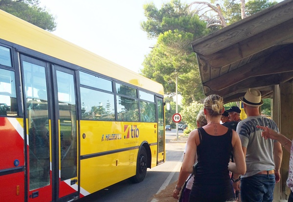 resa, buss, Mallorca, Alcudia, barn, barnvagn