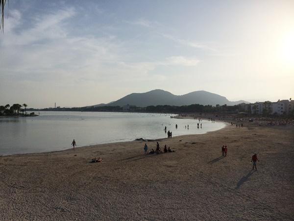 Alcudia, starnd, strandpromenad