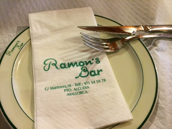 restaurang, Alcudia, Mallorca, barn, äta