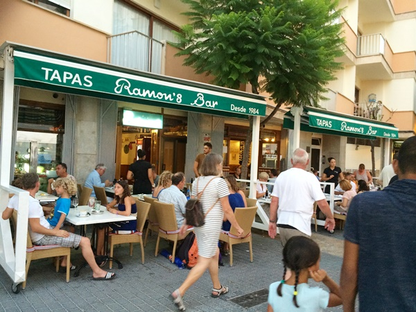 restaurang, äta, Alcudia, Mallorca, barn