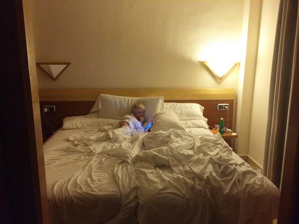 hotell, familj, charter, barn