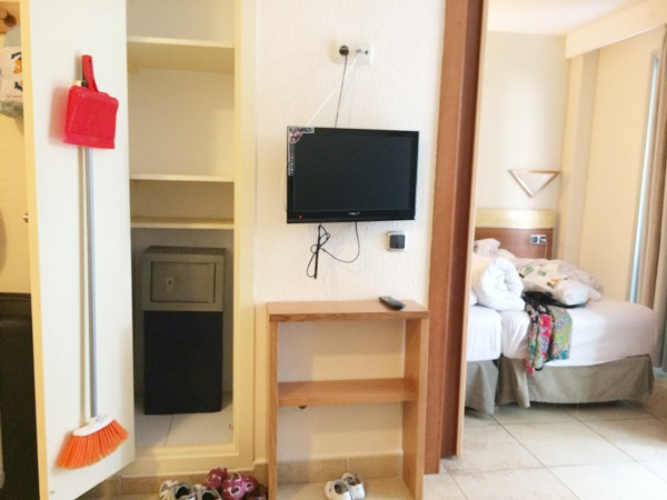 hotell, rum, barn, familj